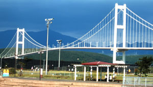 Muroran Bridge.