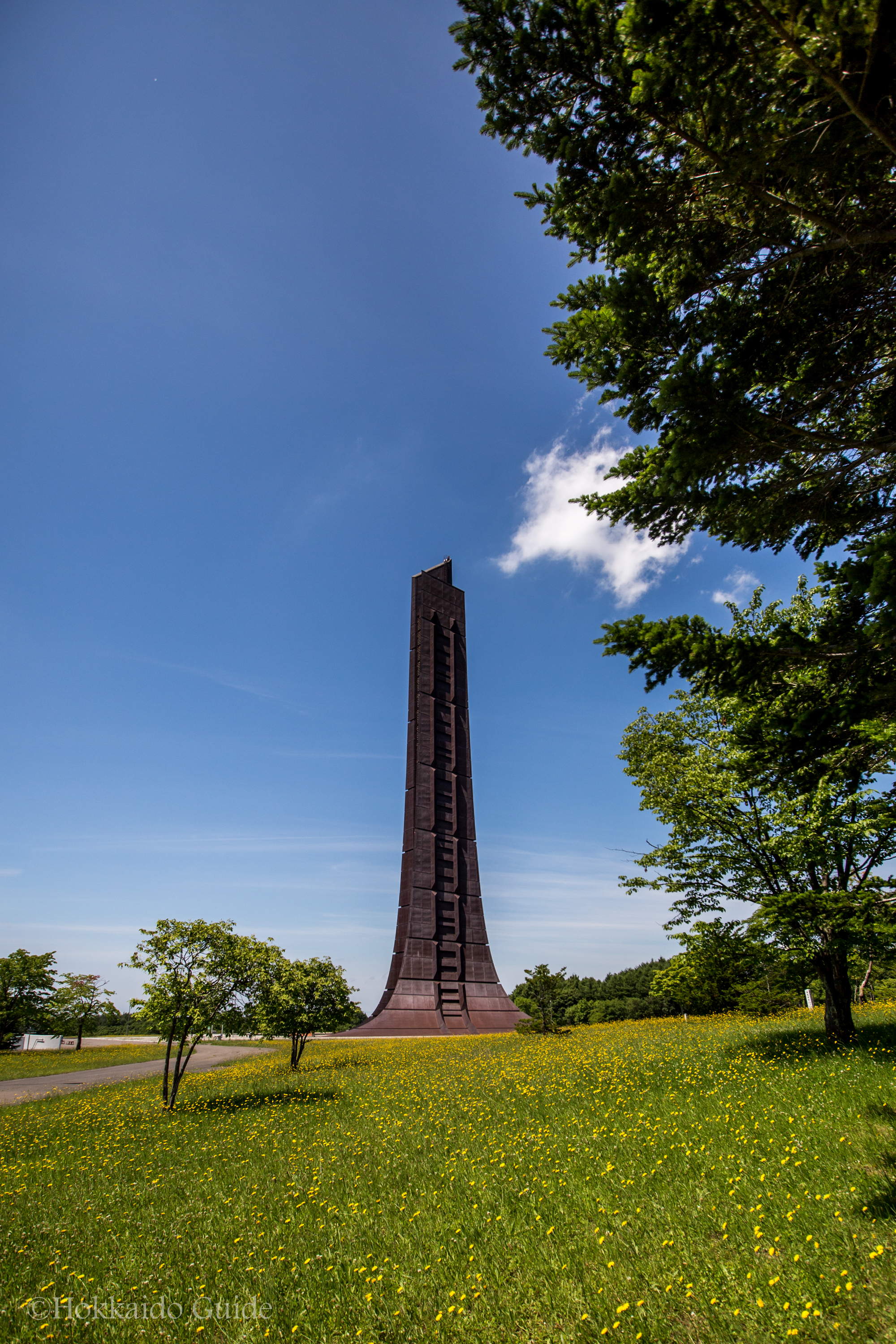 Centennial Memorial Tower in Nopporo Forest