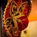 The sombrero of MEXICAN DISH sombrero MEXICANO