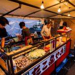 Otaru Shukutsu Fireworks Festival food stalls