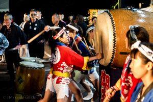 Otaru Shukutsu Fireworks Festival Taiko