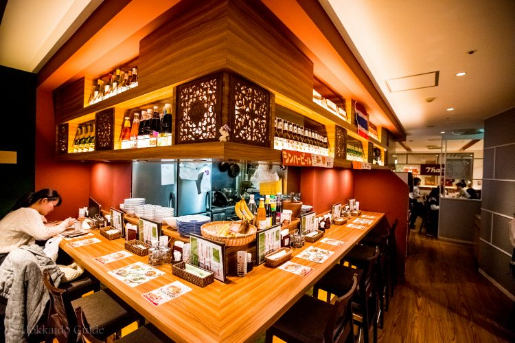 Thai's Sapporo counter area