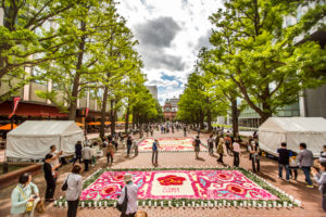 Sapporo Flower Carpet view down street